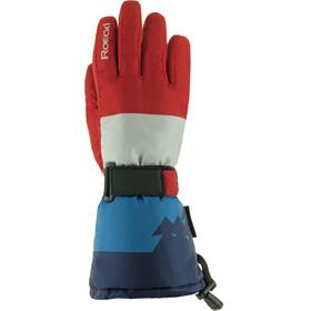 Roeckl Arlberg Handschoenen Kinderen rood/blauw